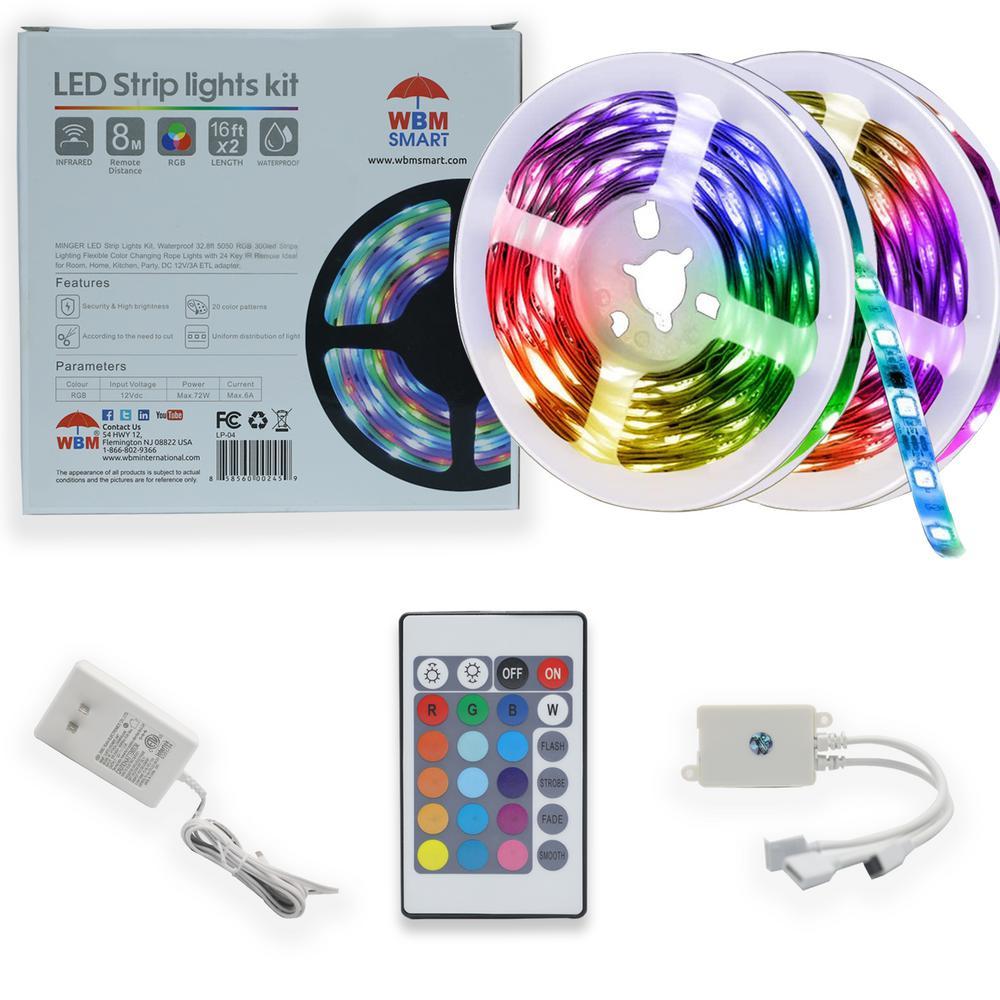 2 m x 5 m LED RF Strip Light Kit
