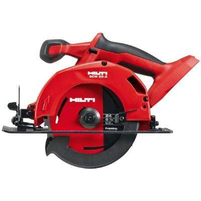22-Volt Lithium-Ion Cordless Circular Saw SCW 22 Tool Body