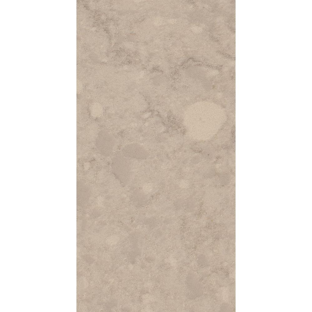 3 in. x 3 in. Quartz Countertop Sample in Natural Limestone