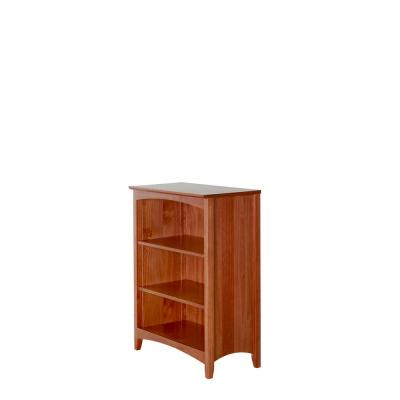 Shaker Style Cherry 36 in. H Solid Wood Bookcase