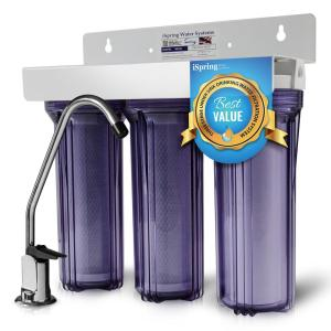 ISPRING 3-Stage Under Sink High Capacity Tankless Drinking Water Filtration System by ISPRING