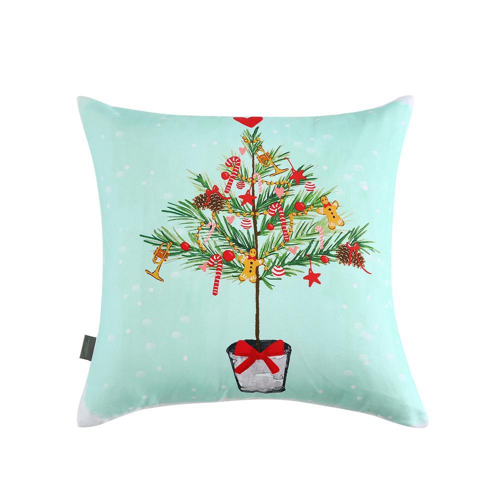 Skinny Tree Reversible 20 in. x 20 in. Decorative Pillow