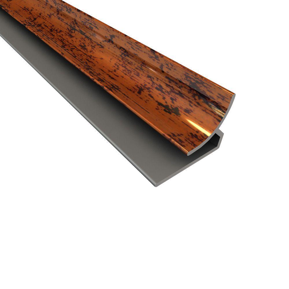 Fasade 4 ft. Large Profile Inside Corner Trim in Moonstone Copper