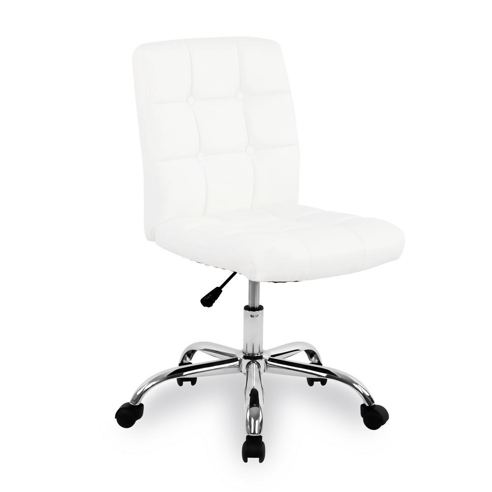 Aria White Task Chair