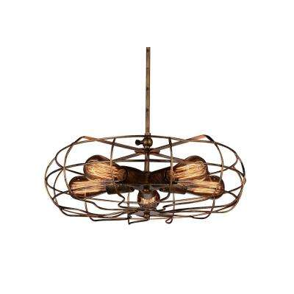 Pamela 5-Light Antique Copper Chandelier