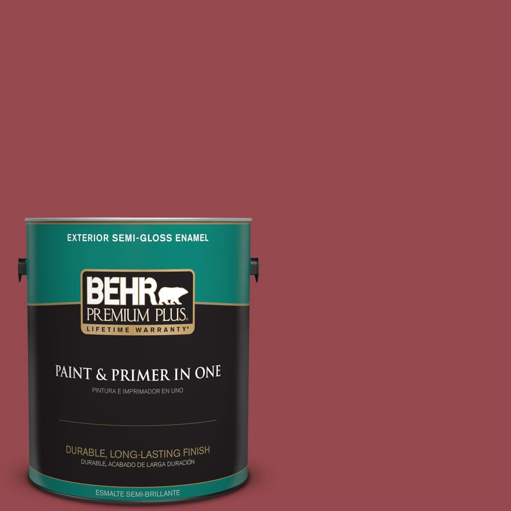 1-gal. #M140-6 Circus Red Semi-Gloss Enamel Exterior Paint