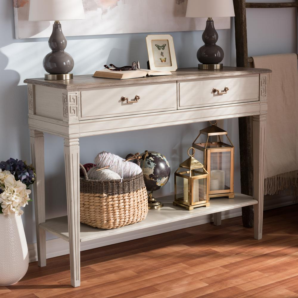 Arte French Inspired White Console Table