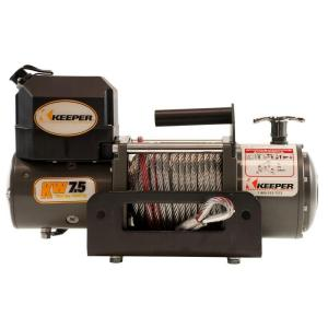 Keeper 7,500 lbs. Portable Winch 12VDC with Rapid Mount by Keeper