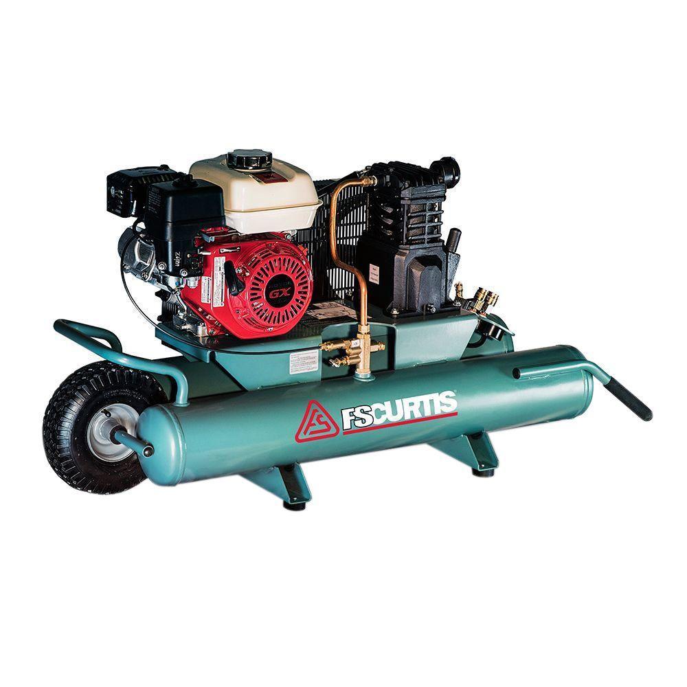 FS-Curtis 9 Gal. 5.5 HP Portable Gas Drive Wheel Barrow Air Compressor by FS-Curtis