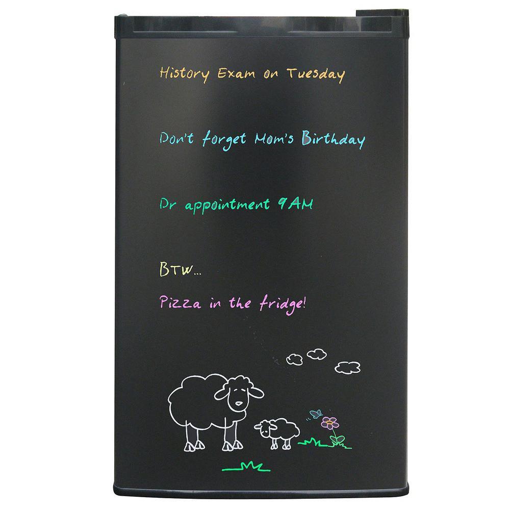 3.2 cu. ft. Eraser Board Mini Refrigerator in Black