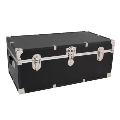Seward Essential 30 in. Black Trunk with Lock, 12.25 in. H x 15.75 in. D, Engineered Wood