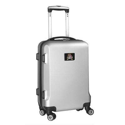NCAA East Carolina 21 in. Silver Carry-On Hardcase Spinner Suitcase