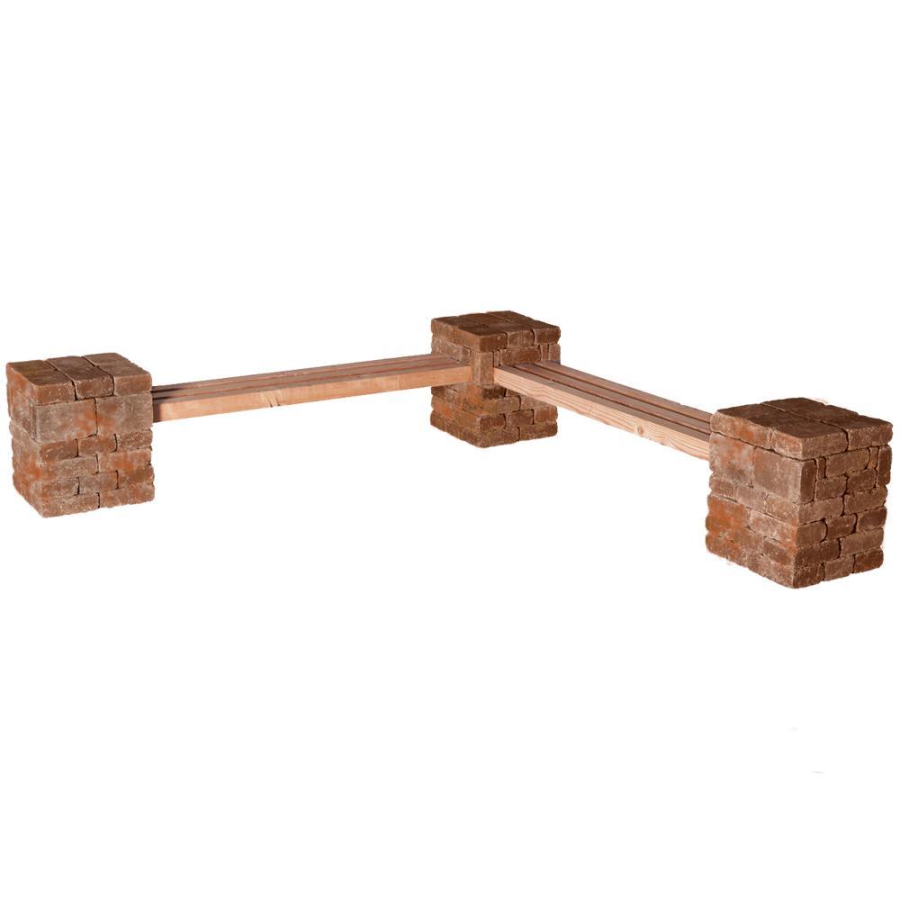 RumbleStone 100 in. x 24.5 in. x 14 in. Concrete Garden B...