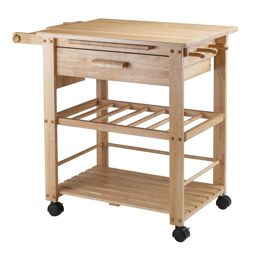 Charmant Winsome Wood Finland Natural Kitchen Cart