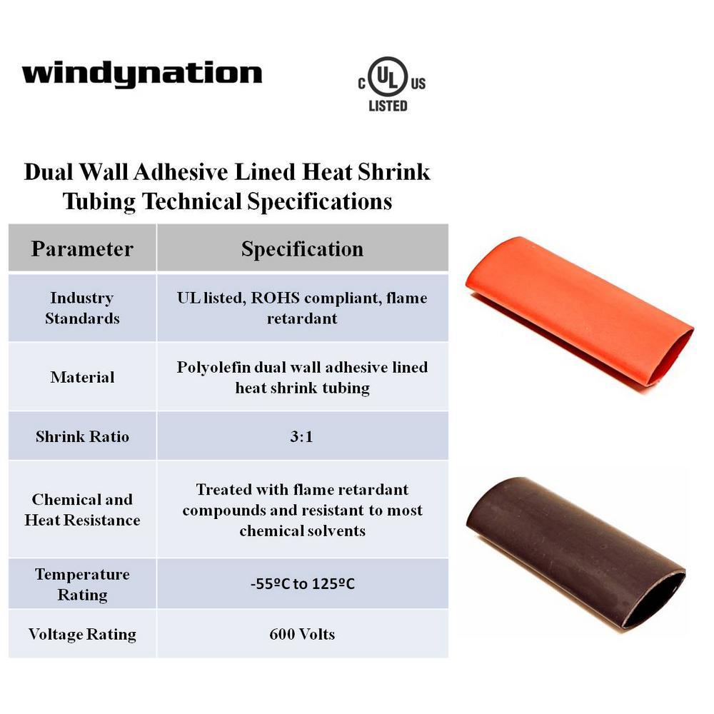 "3:1 Marine Grade Heat Shrink Tubing Dual Wall Adhesive Line Clear 3//8/"" x 15 ft"