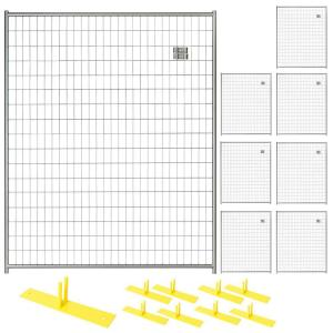 Perimeter Patrol 6 ft. x 40 ft. 8-Panel Silver Powder-Coated Welded Wire Temporary Fencing by Perimeter Patrol