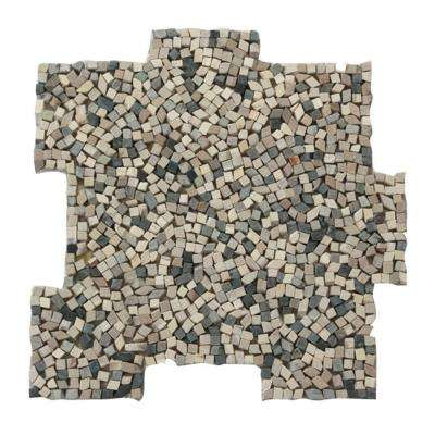 Palazzo Antica 12 in. x 12 in. x 6.35 mm Decorative Pebble Mosaic Floor and Wall Tile (10 sq. ft. / case)