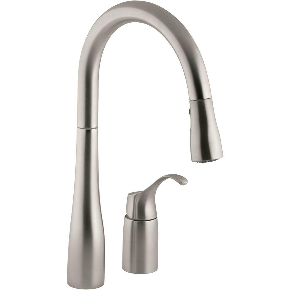 kitchen faucets kohler simplice single handle pull down sprayer kitchen