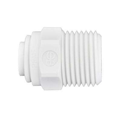1/4 in. O.D. x 3/8 in. Nptf Polypropylene Push-To-Connect Male Connector