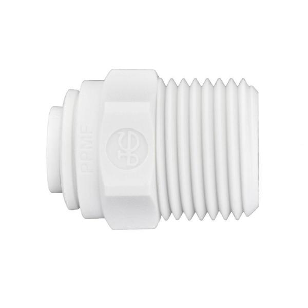 1/4 in. O.D. x 3/8 in. MIP NPTF Polypropylene Push-to-Connect Adapter Fitting