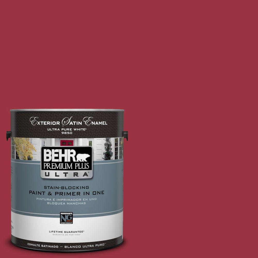BEHR Premium Plus Ultra 1-Gal. #UL100-5 High Drama Satin Enamel Exterior Paint