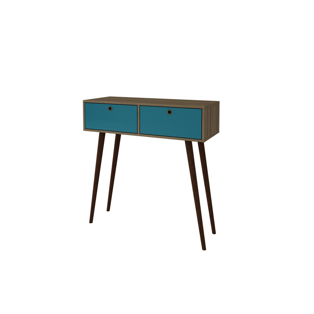 Charmant Manhattan Comfort Onsala Splayed Leg Aqua MDP Console Table
