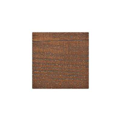 6 in. x 6 in. Rough Sawn Pecan Endurathane Faux Wood Ceiling Beam Material Sample