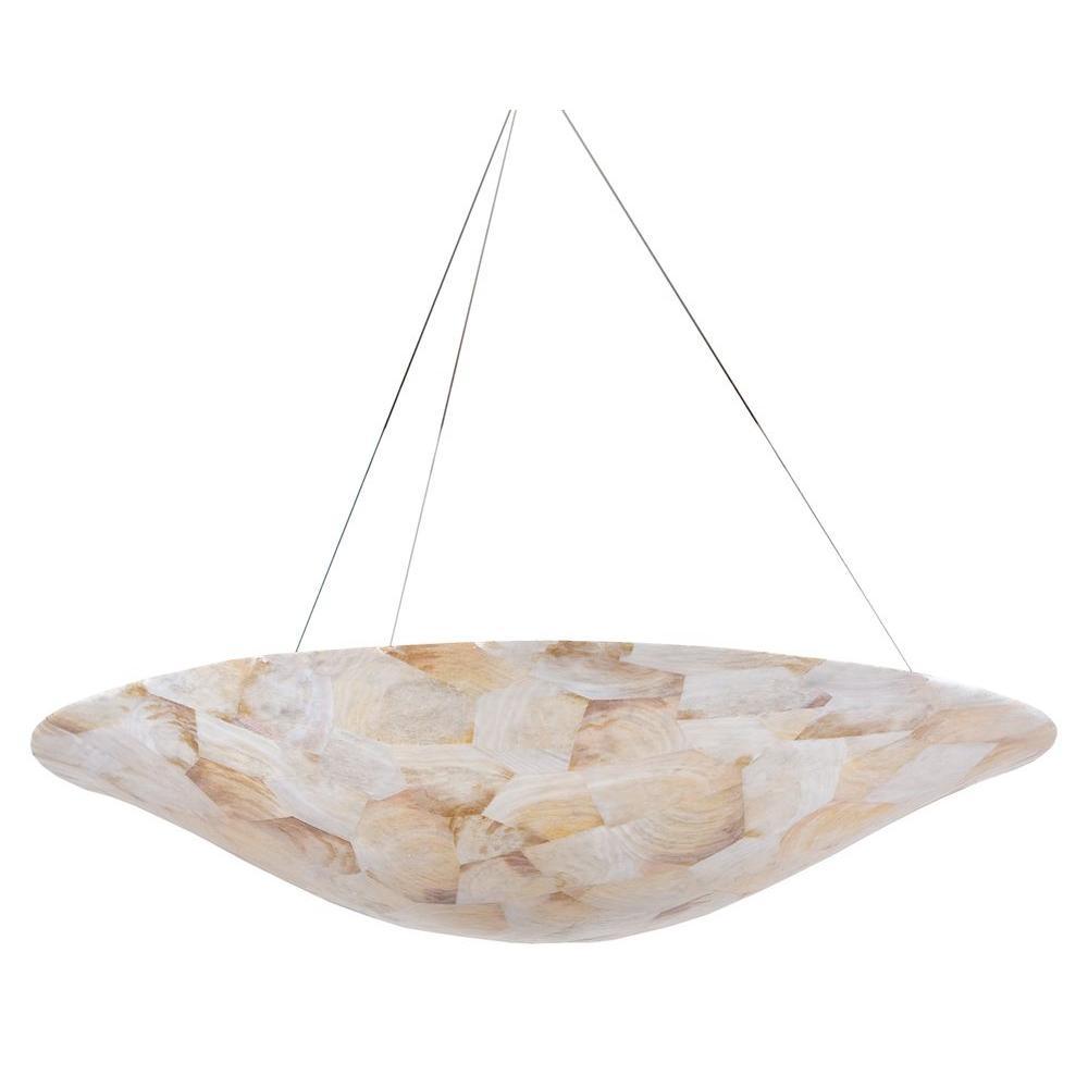 Varaluz Big 5 Light Kabebe Shell Pendant