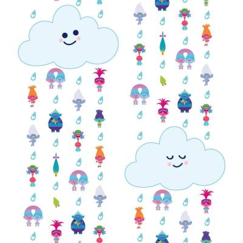 28.29 sq. ft. Trolls Clouds Peel and Stick Wallpaper