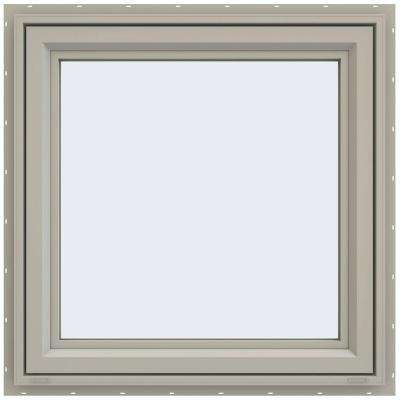 29.5 in. x 29.5 in. V-4500 Series Left-Hand Casement Vinyl Window - Tan