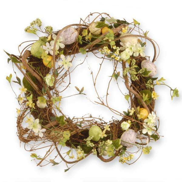 National Tree Company 18 in. Decorated Wreath with Eggs and Berries