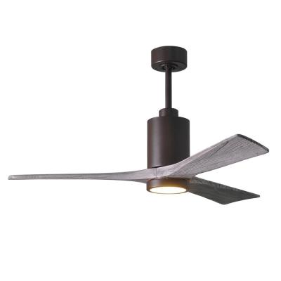 Patricia 52 in. LED Indoor/Outdoor Damp Textured Bronze Ceiling Fan with Light with Remote Control and Wall Control