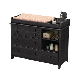 Internet #206924735. +3. South Shore Little Smileys 4 Drawer Gray Oak Changing  Table
