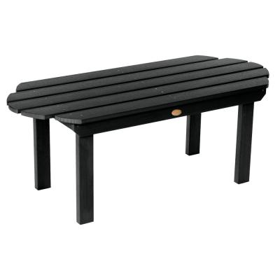 Classic Westport Black Rectangular Recycled Plastic Outdoor Coffee Table