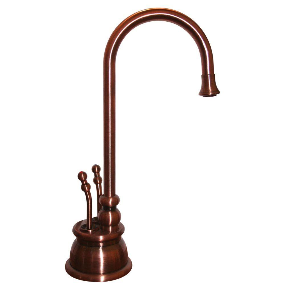 Forever Hot 2-Handle Instant Hot/Cold Water Dispenser in Antique Copper