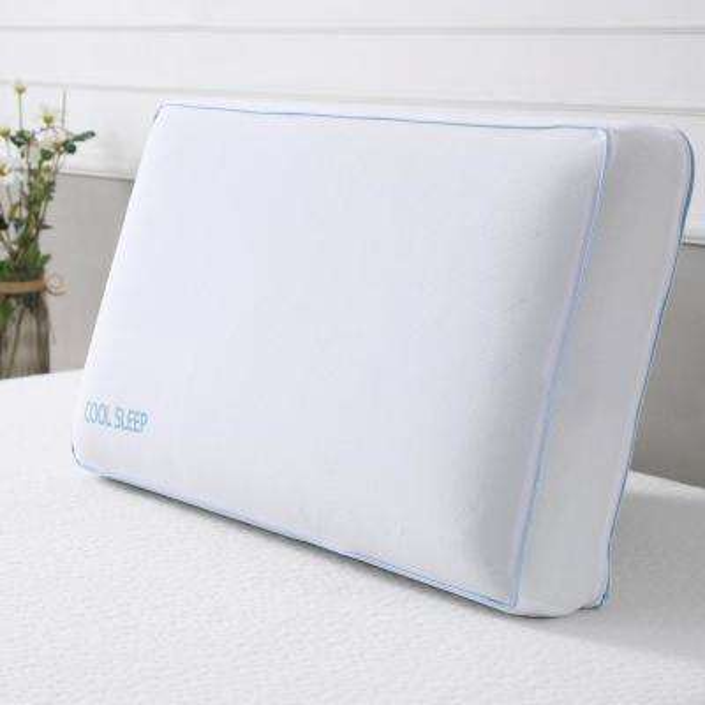 Cool Sleep Standard-Size Ventilated Gel Memory Foam Bed Pillow