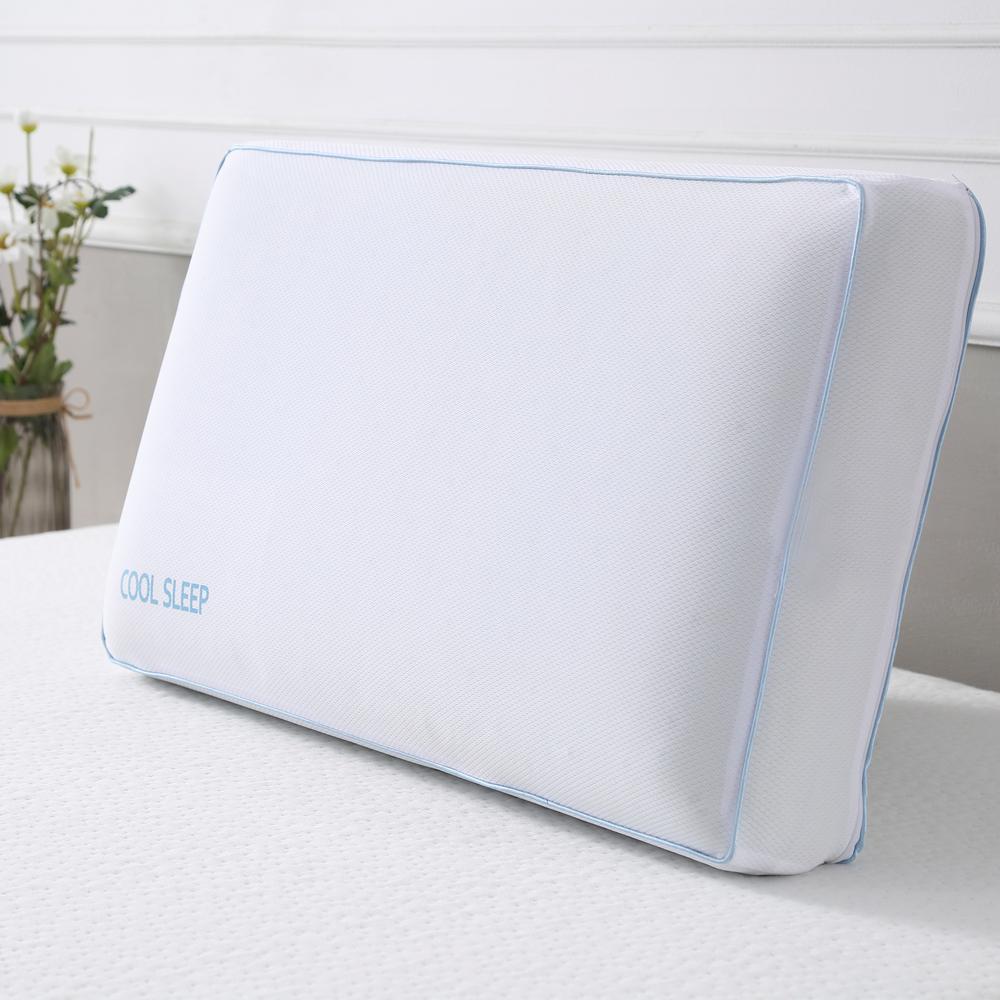 bf1bcacecd37 Cool Sleep Cool Sleep King-Size Ventilated Gel Memory Foam Bed Pillow