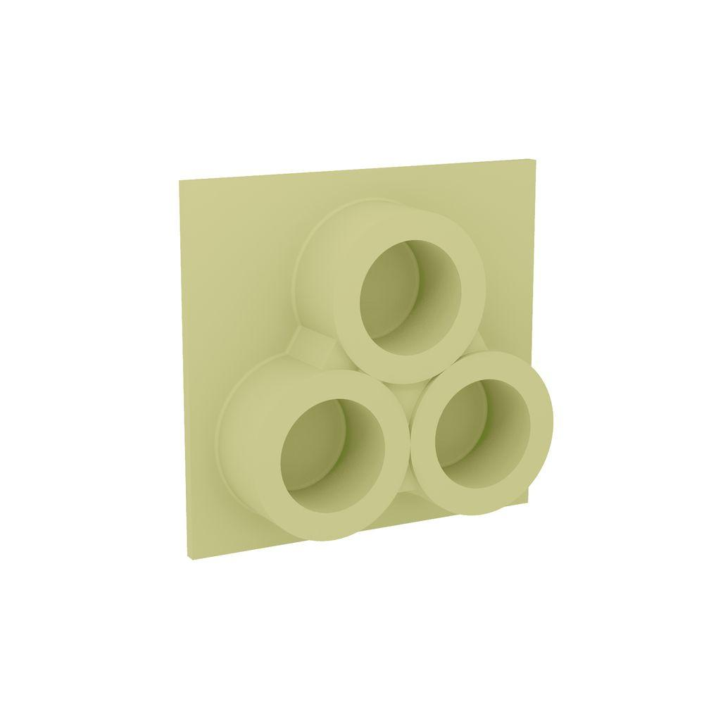 Fypon 14 in. x 13-1/4 in. x 3-1/2 in. Polyurethane 3-Hole Full Round Clustered Tile Vent