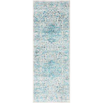 Everest Blue 2 ft. 7 in. x 7 ft. 3 in. Oriental Runner Rug