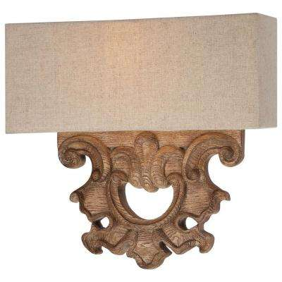 Abbott Place 2-Light Classic Oak Patina Sconce