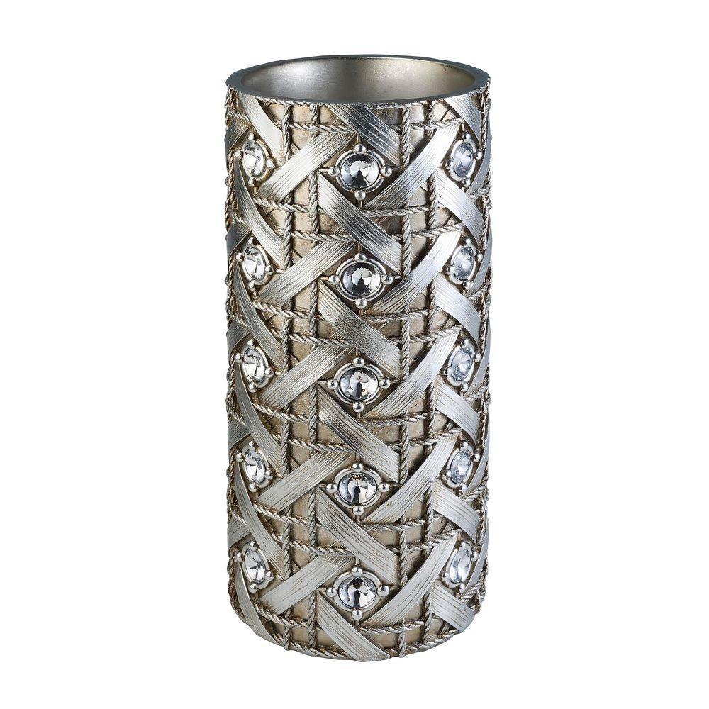 13.50 in. Dazzle Decorative Vase in Silver