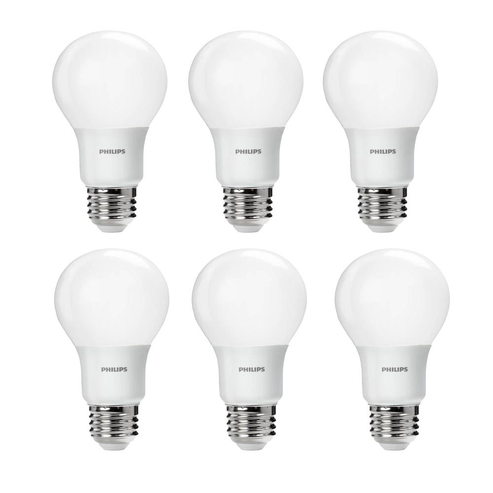 Philips 60W Equivalent Soft White A19 LED Light Bulb (6-Pack)