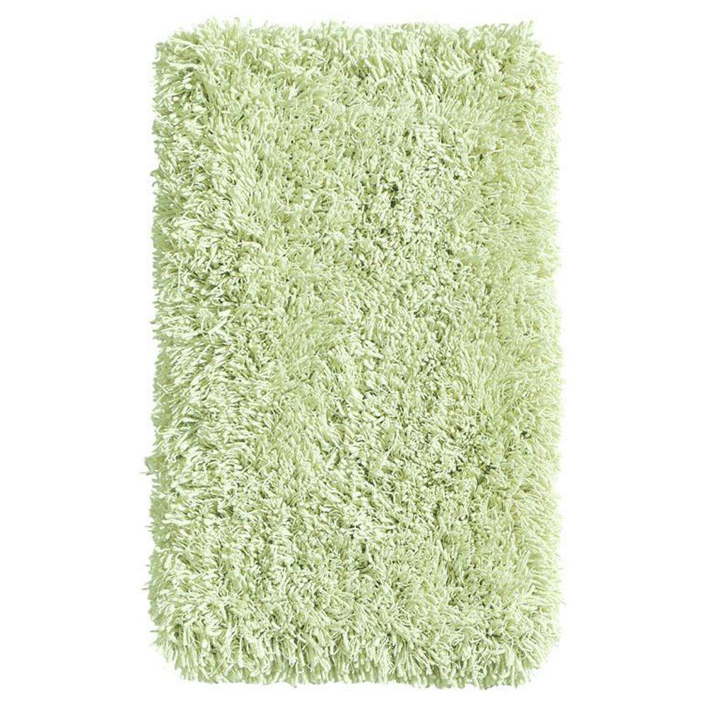 Home Decorators Collection Ultimate Shag Sea Foam Green 3 ft. 6 in. x 5 ft. 6 in. Area Rug