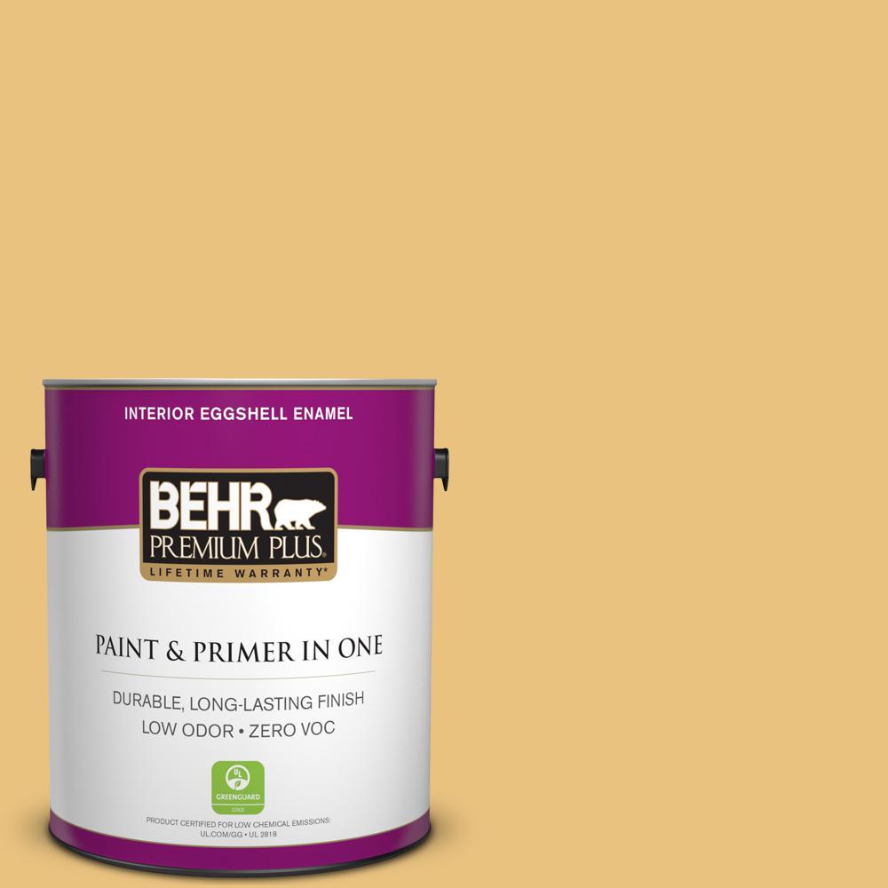BEHR Premium Plus 1-gal. #350D-4 Wild Bamboo Zero VOC Eggshell Enamel Interior Paint