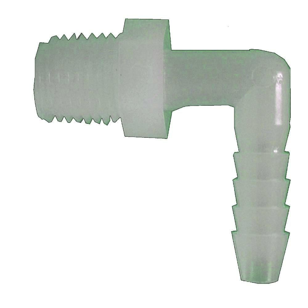 Sioux Chief 3/8 in. x 1/4 in. Plastic 90° Barb x MPT Elbow