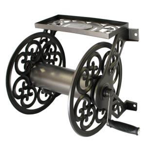 Click here to buy Hampton Bay Decorative Steel Hose Reel by Hampton Bay.
