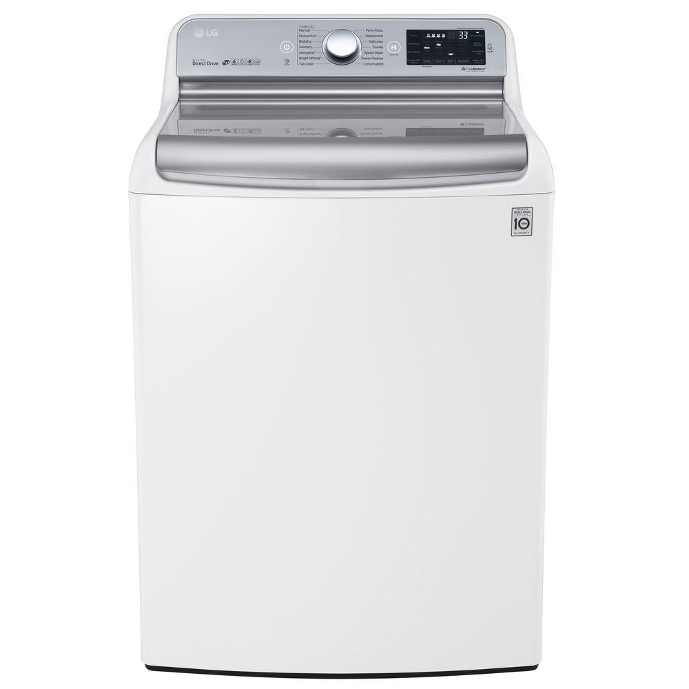 Lg Electronics 5 7 Cu Ft High Efficiency Top Load Washer With Steam And