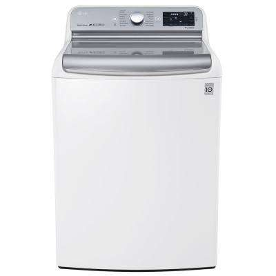 5.7 cu. ft. High-Efficiency Top Load Washer with Steam and TurboWash in White, ENERGY STAR