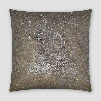 Pixie Silver Feather Down 20 in. x 20 in. Standard Decorative Throw Pillow