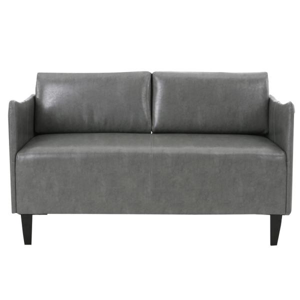 Nyx Grey Leather Loveseat